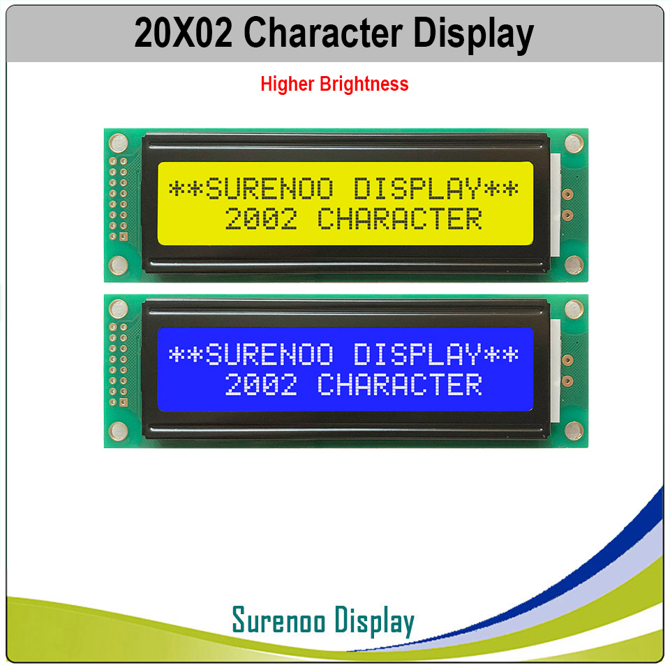 202 20X2 2002 Character LCD Module Display Screen LCM Yellow Green Blue With Higher Brigntness LED Backlight