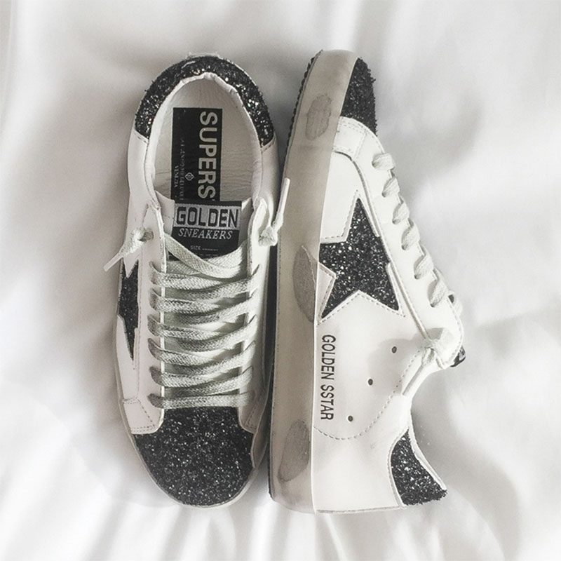 Super Fire Sneakers Five Star Sequins Dirty Shoes Spring Trend