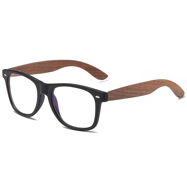 GM Environment-Friendly Retro Black Walnut Wood UV400 Polarized Bamboo Sunglasses Men's Fashion Trendy Anti Blue Lens S7061h 4