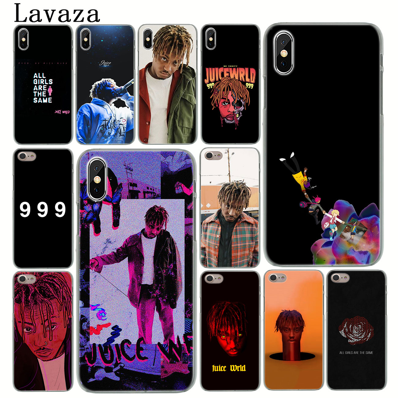 Lavaza Juice WRLD 999 Hard Phone Cover Case For IPhone XR X 11 Pro XS Max 8 7 6 6S 5 5S SE 4S 4 10