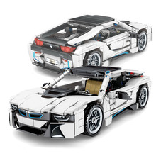2020 New building blocks Compatible Technic Supercar Diy Rcing Car Figures Educational Blocks Bricks Car Toys For Boy Child Toys