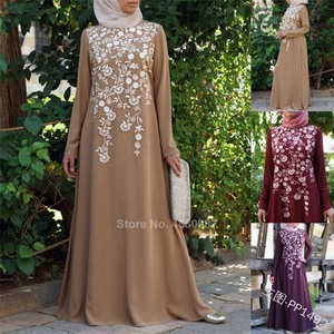 Women Maxi Dress Muslim Abaya Traditional Islamic Clothing Elegant Casual Plus Size Middle East Dubai Printing Turkish Kaftan