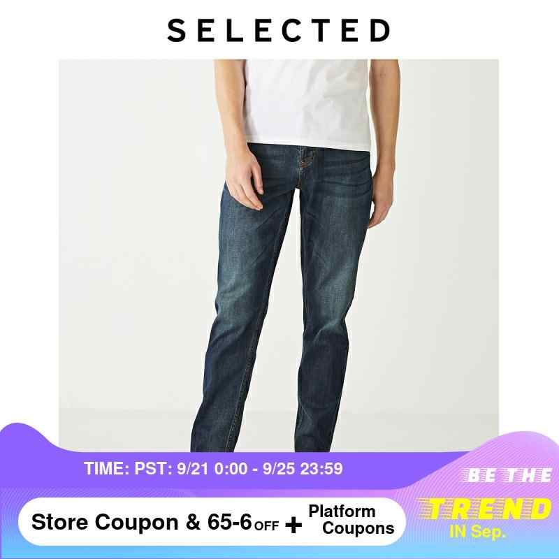 SELECTED Men's Slight Stretch 데님 바지 New Regular Casual Tapered Tight-leg Jeans S | 419332526
