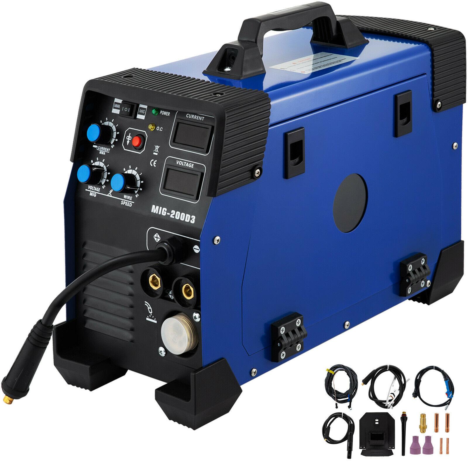 5 em 1 mig/mag/tig/fluxo/mma inversor soldador 200amp combinação máquina de solda