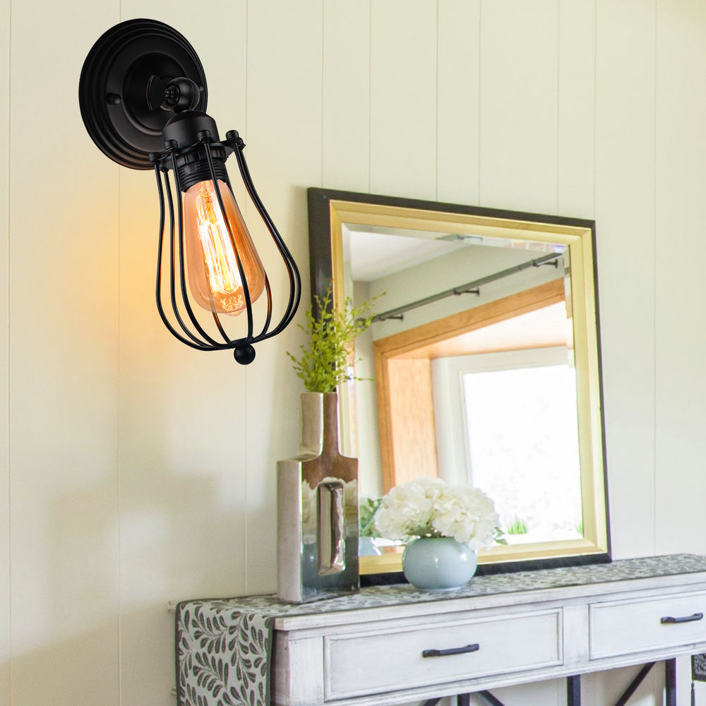 Vintage Industrial Wall Lamp American Indoor Lights Lighting Bedside Lamps Aisle Sconce Bedroom Home Decor Wall