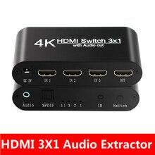 HDMI Audio EXTRACTOR Converter 5.1CH/ 2CH Audio Splitter 4Kสเตอริโออะนาล็อกHDMI TO HDMI Optical SPDIFแปลงอะแดปเตอร์