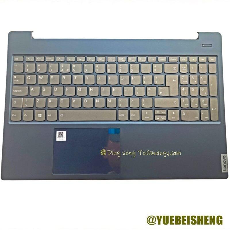 YUEBEISHENG Новый Для LENOVO xiaoxin 15IWL 2019 S340-15 и Упор для рук; Большие европейские клавиатура верхняя чехол сенсорная панель, подсветка