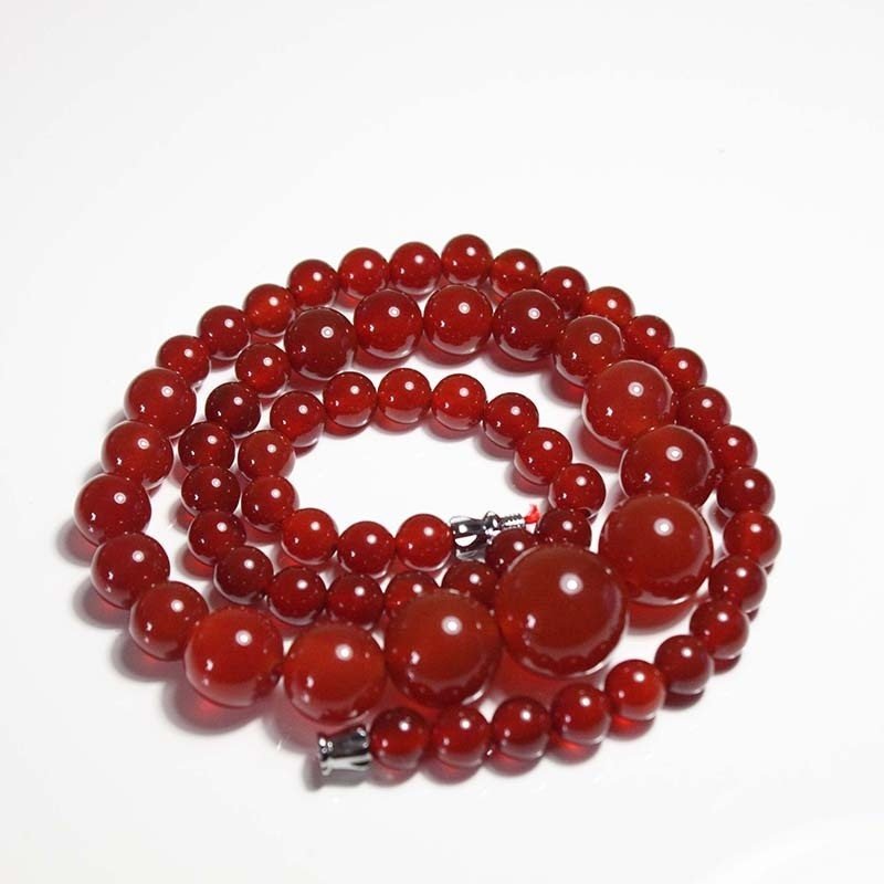 Liangshan Natural Red Agate Tower Chain Red Chalcedony Female Models Agate Necklace South Red Agate Necklace