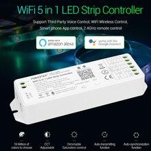 Miboxer 5 In 1 Led Controller WL5 2.4G Wifi 15A Enkele Kleur, Cct, Rgb, Rgbw, rgb + Cct Led Strip Dimmer Ondersteuning Amazon Alexa Voice