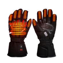 Motocykl do ogrzewania rękawiczek jazda do motocyklu wyścigowego zima na zewnątrz sport bateria podgrzewany elektrycznie ogrzewacz dłoni 3 poziomy kontroli tanie tanio Savior Heat SHGS28C Poliester Motorcycle heated gloves Black Leather polyster 7 4V 2200MAH 8 4V 1 5A Hand back and finger tips