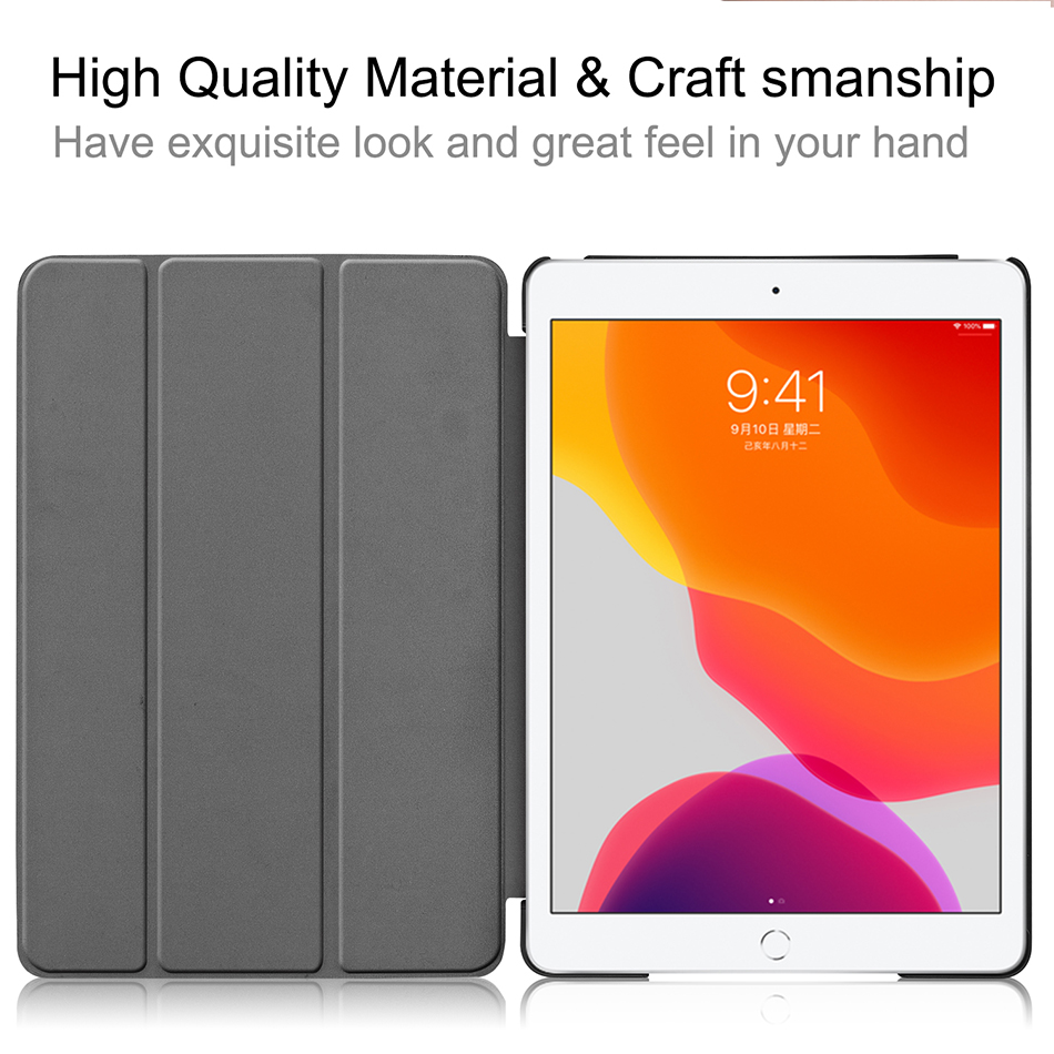 Smart 7th 10.2 MTT For 2019 Flip Case Generation iPad Stand 8th PU Leather Tablet inch