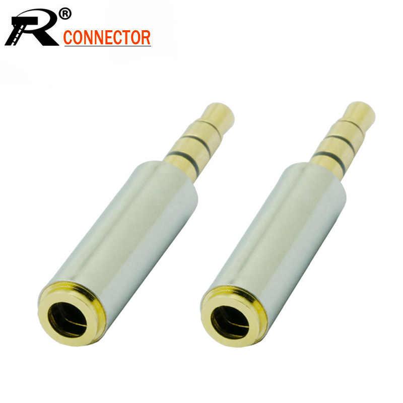 100 sztuk/partia 4 polacy 3.5mm wtyk męski do 4 Pins 3.5mm żeńskie gniazdo efekt dźwięku Stereo słuchawki Audio złącze adaptera