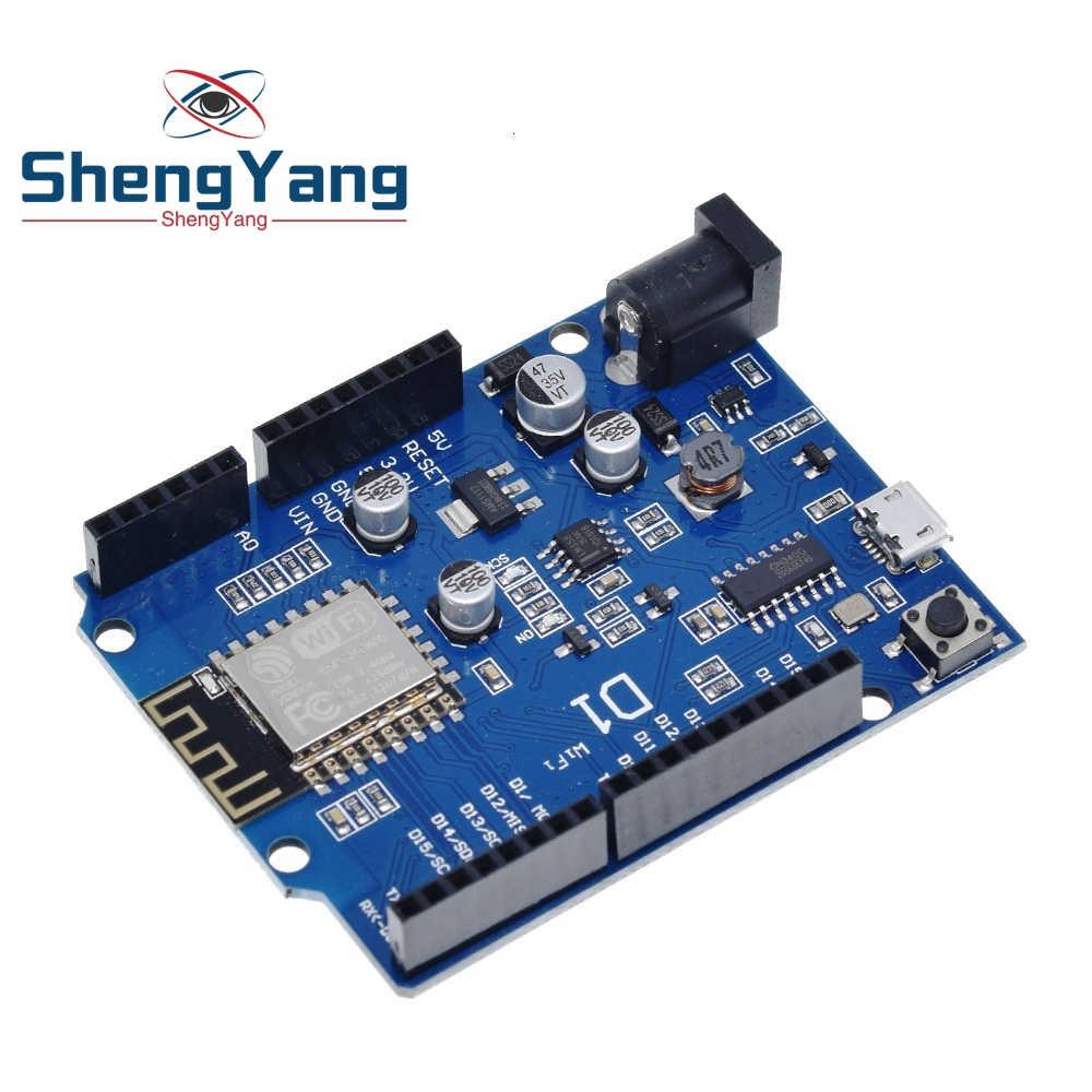 TZT électronique intelligente ESP-12F WeMos D1 WiFi uno basé ESP8266 bouclier pour arduino Compatible IDE