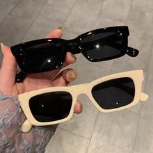 Очки солнцезащитные женские маленькие, Модные Винтажные брендовые дизайнерские квадратные леопардовые солнечные очки в стиле хип-хоп, UV400