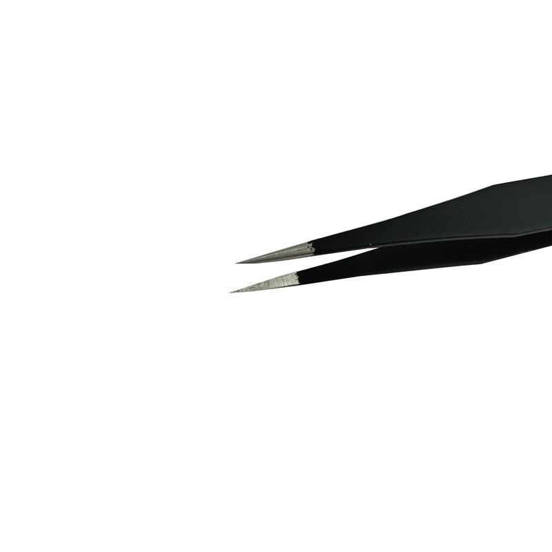 정전기 방지 ESD 스테인레스 트위터 스틸 고정밀 핀셋 세트 납땜 전자 IC 칩 제거 수리 집게 도구