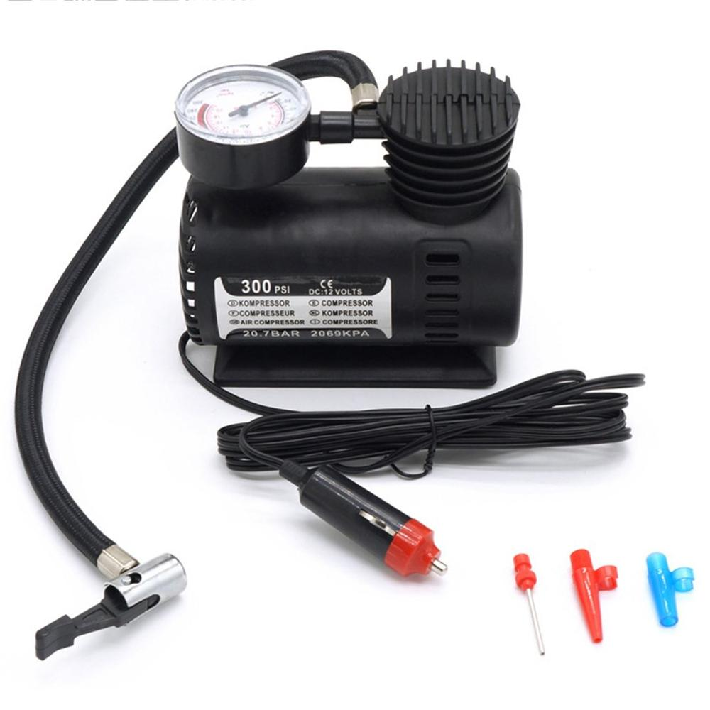 Mini Air Compressor Electric Pump ABS Automotive Durable Vehicle Air Pump 300 PSI Tire Inflator Pump DC 12V Car Parts