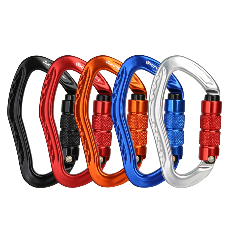 Climbing Carabiner Safety Pear-shaped Professional Safety Buckle Hiking Survival Kit Protective Equipment Carabiner Climbing