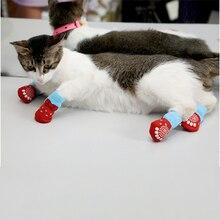 Нескользящие носки для домашних животных, носки для собак, вязаные носки, зимние носки для маленьких собак, кошек, чихуахуа, толстые теплые носки с защитой лап, носки для собак, аксессуары для ботинок