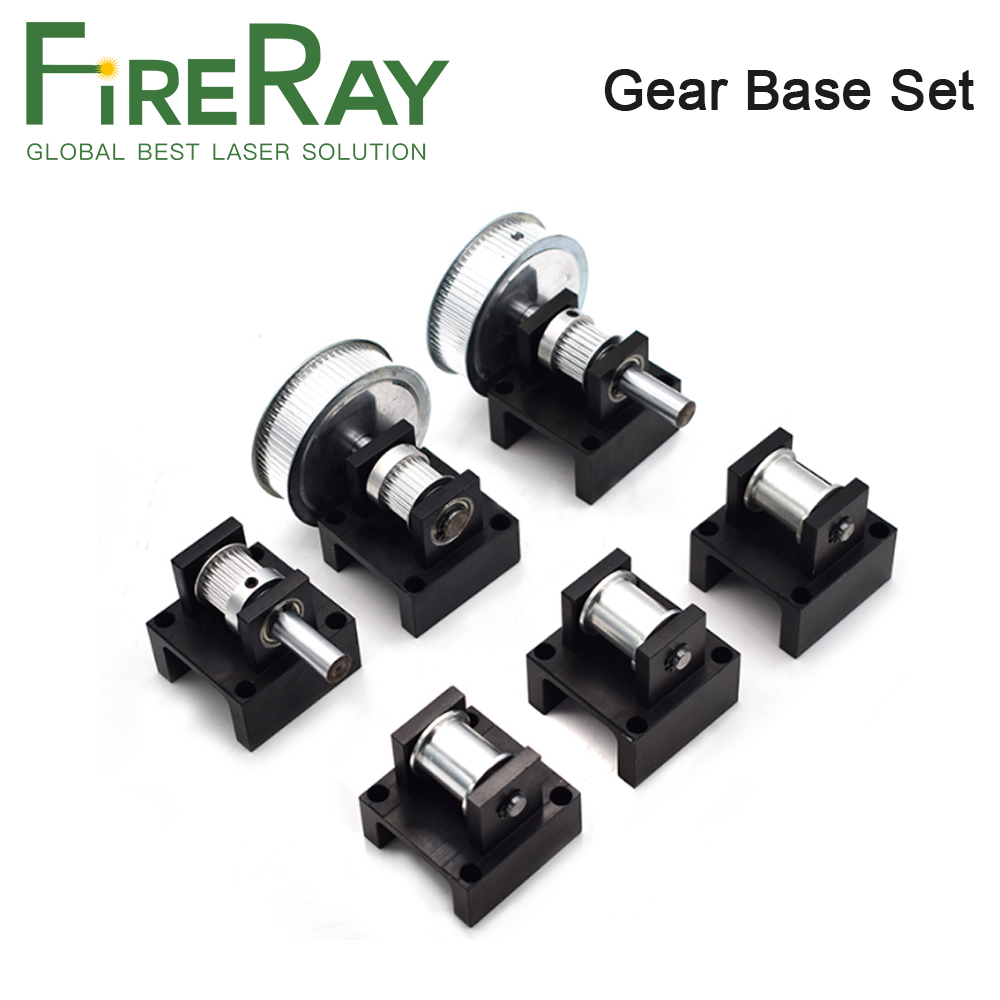 Gear Base Set Machine Mechanical Parts 3M Reduction Box Idler Pulley Tensioner Timing Pulley For Laser Engraving Cutting Machine