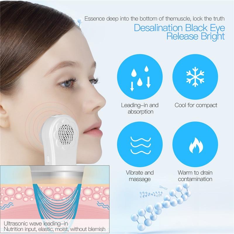 Elektrische Heiße und Kalte Hammer Gesichts Schönheit Maschine Sonic Vibration LCD Display Bildschirm Lymphdrainage Gesicht Hautpflege Tools45