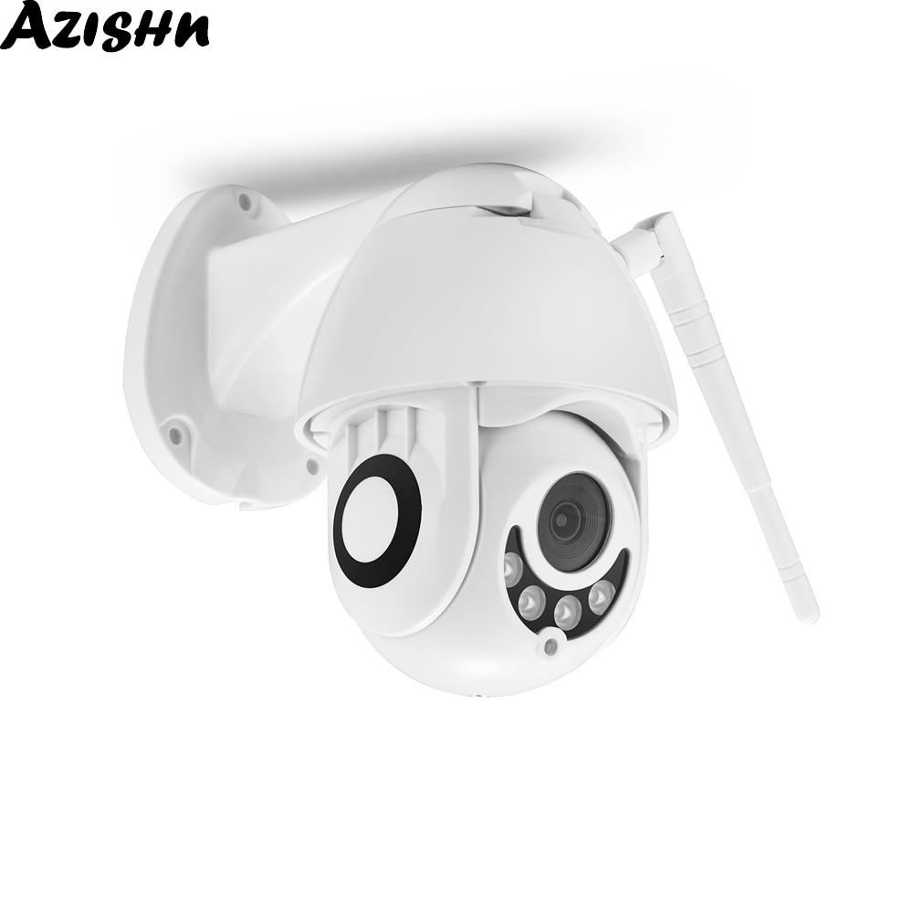 AZISHN 1080P PTZ IP Camera 2MP Wifi Outdoor Speed Dome Wireless Security Camera Two Way Audio IR Night Vision CCTV Mini Camera
