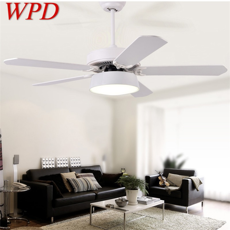 Wpd Ceiling Fan With Led Light Kit Remote Control 3 Colors Modern Home Decorative For Rooms Dining Room Bedroom Restaurant