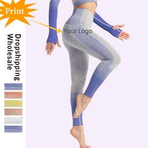 Image 1 - LAISIYI Leggings Fitness pour femmes, impression numérique, pantalon pour femmes, taille haute, Push Up, jambières dexercices