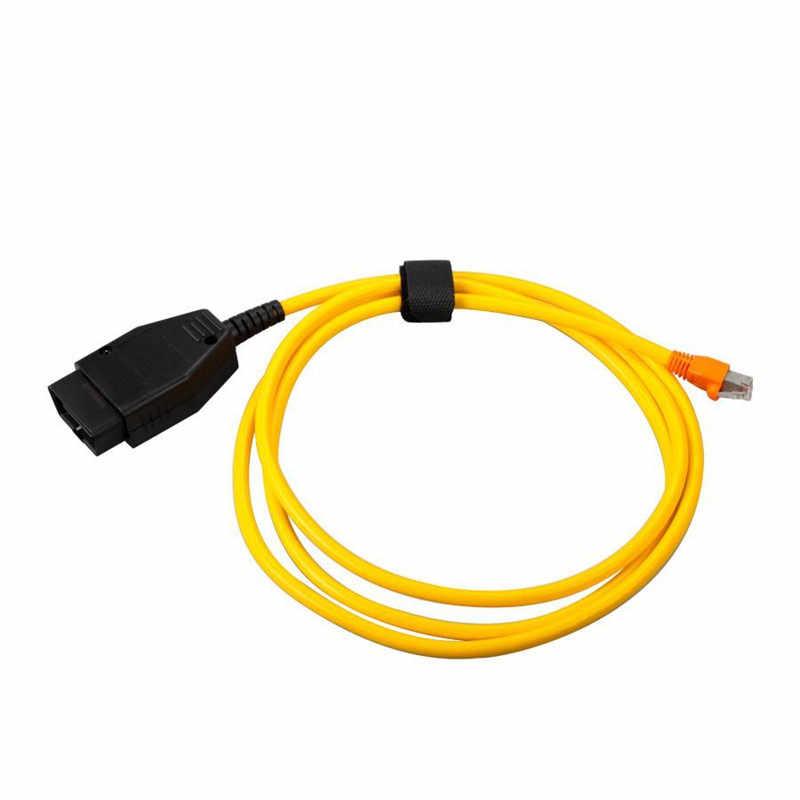 10 pçs/lote V50.3 3.23.4 ESYS Cabo de Dados E-SYS 16PIN Para BMW ENET Ethernet para OBD OBDII Interface ICOM Codificação Cabo para F-serie