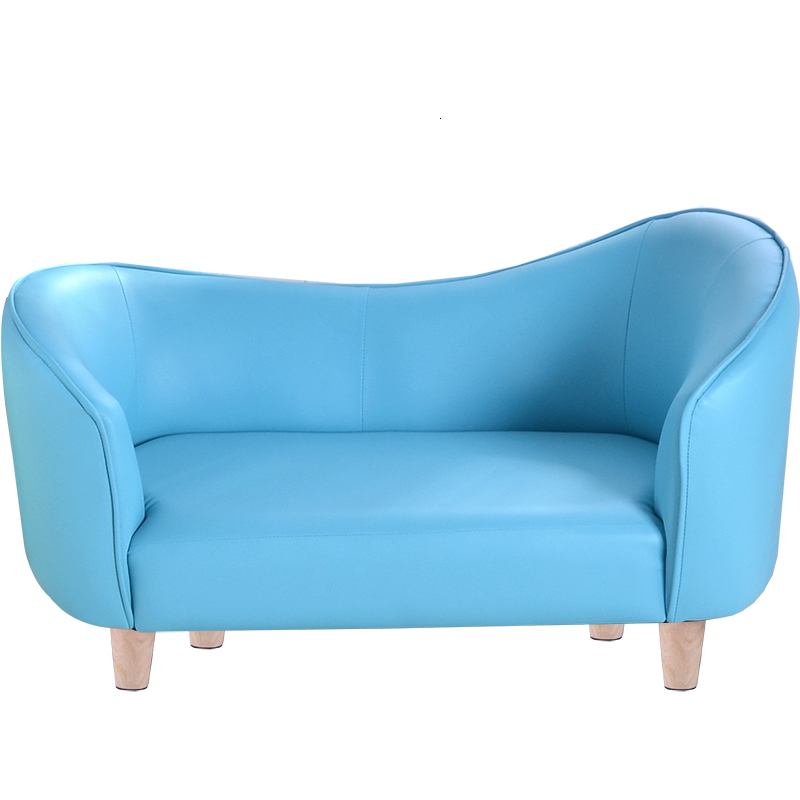 Castle Children Furniture Small Sofa Simple Double Person Kids Sofa Chair Child Bed Kids Bedroom Bean Bag Zitzak  Blue