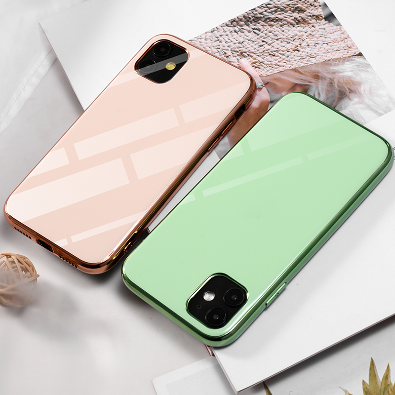 soft shell TPU Case Plating Cover For iPhone11 XS Max iPhone X Phone Case Luxury Hard Coque With Logo For phone 11 case 3