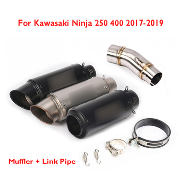 Motorcycle for Kawasaki Ninja 250 Ninja 400 2017-2020 Exhaust Pipe Tip Silencer Escape Middle Mid Connection Link Tube
