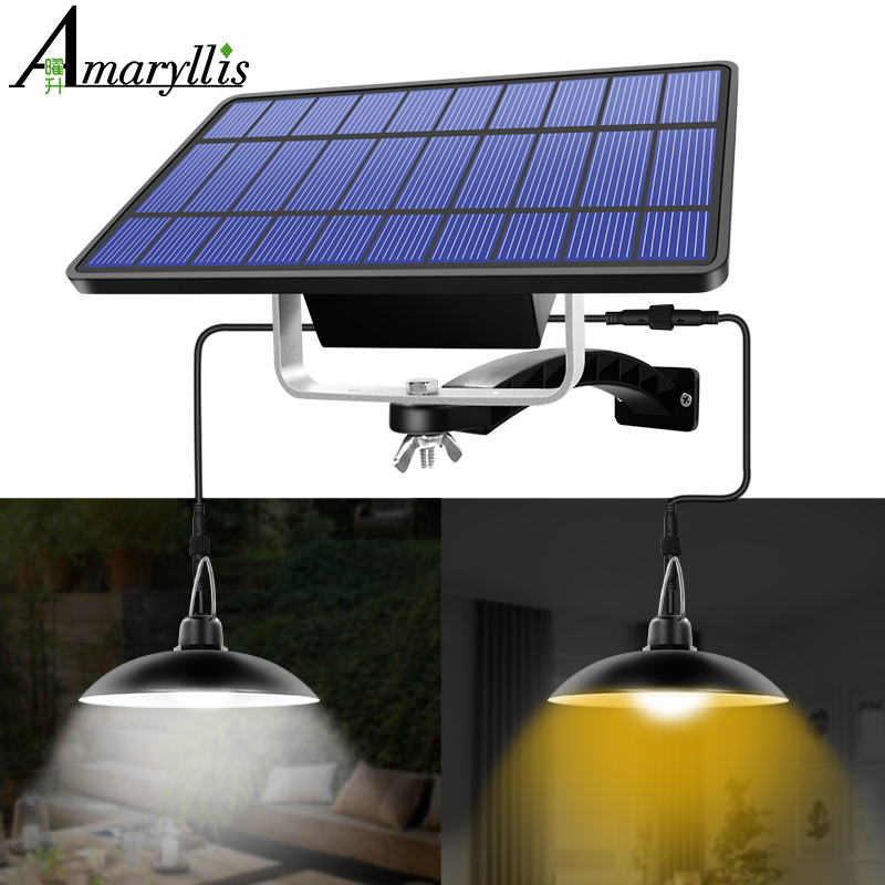Solar Pendant Light Outdoor Indoor Hanging Solar Powered Shed Lights Waterproof Decoration Lamp for Barn Farm Garden Yard Patio|Solar Lamps|   - AliExpress