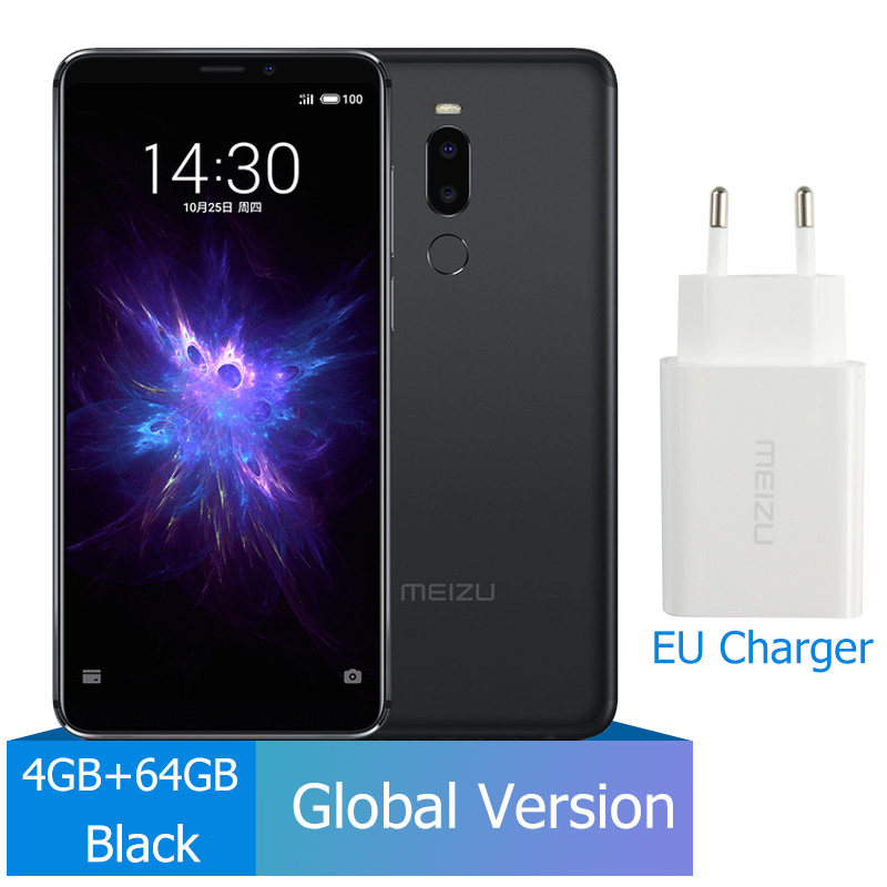Meizu Note 8, 4 ГБ, 64 ГБ, глобальная версия, мобильный телефон Snapdragon 632, четыре ядра, Note8, смартфон, полностью металлический корпус, двойная камера заднего вида - Цвет: EU Charger Black