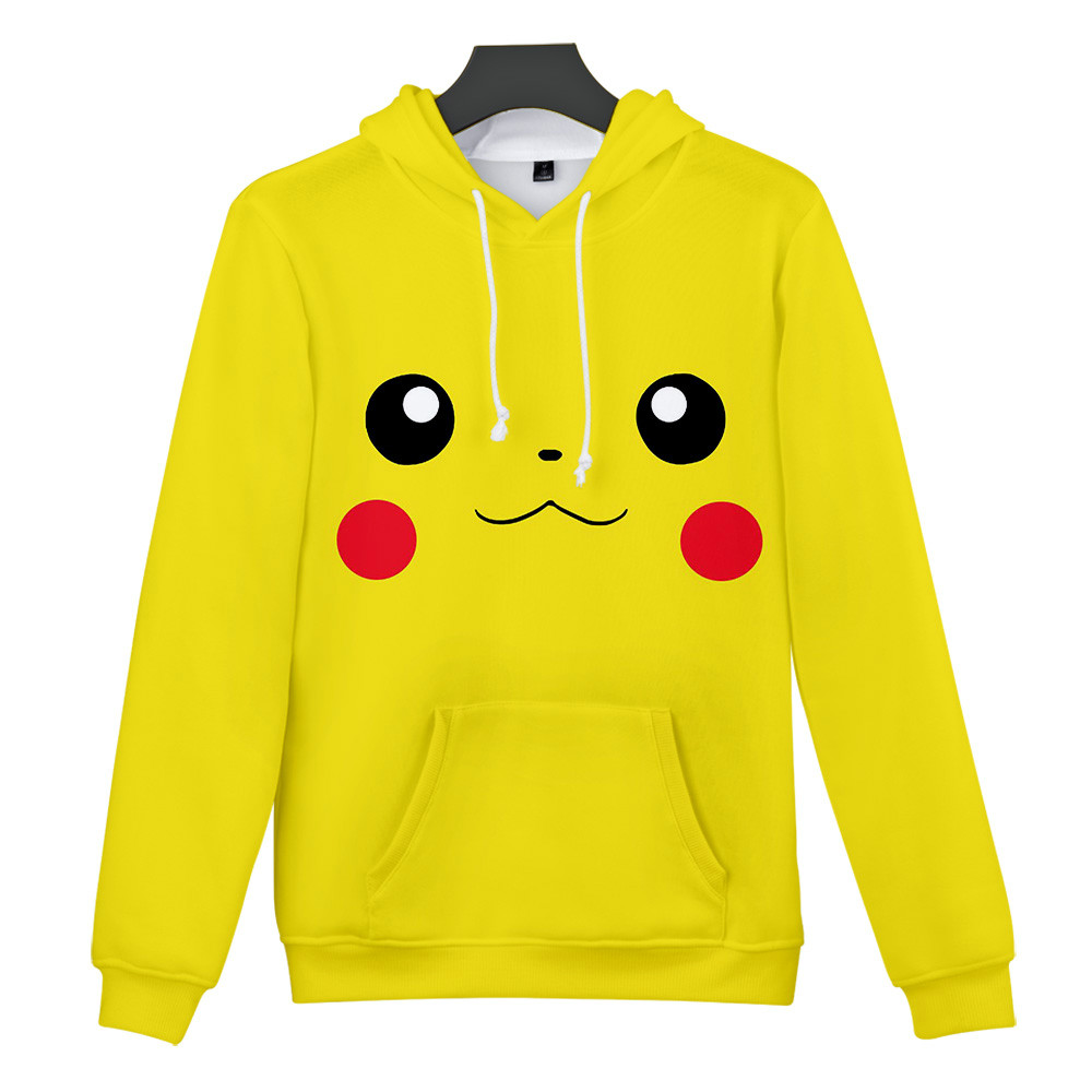 Pokemon Hooide Anime Harajuku Sweatshirts 3D Pokemon cute Leisure popular Graffiti Design Boy/Girl Hooded Coats Students Hoodie 2