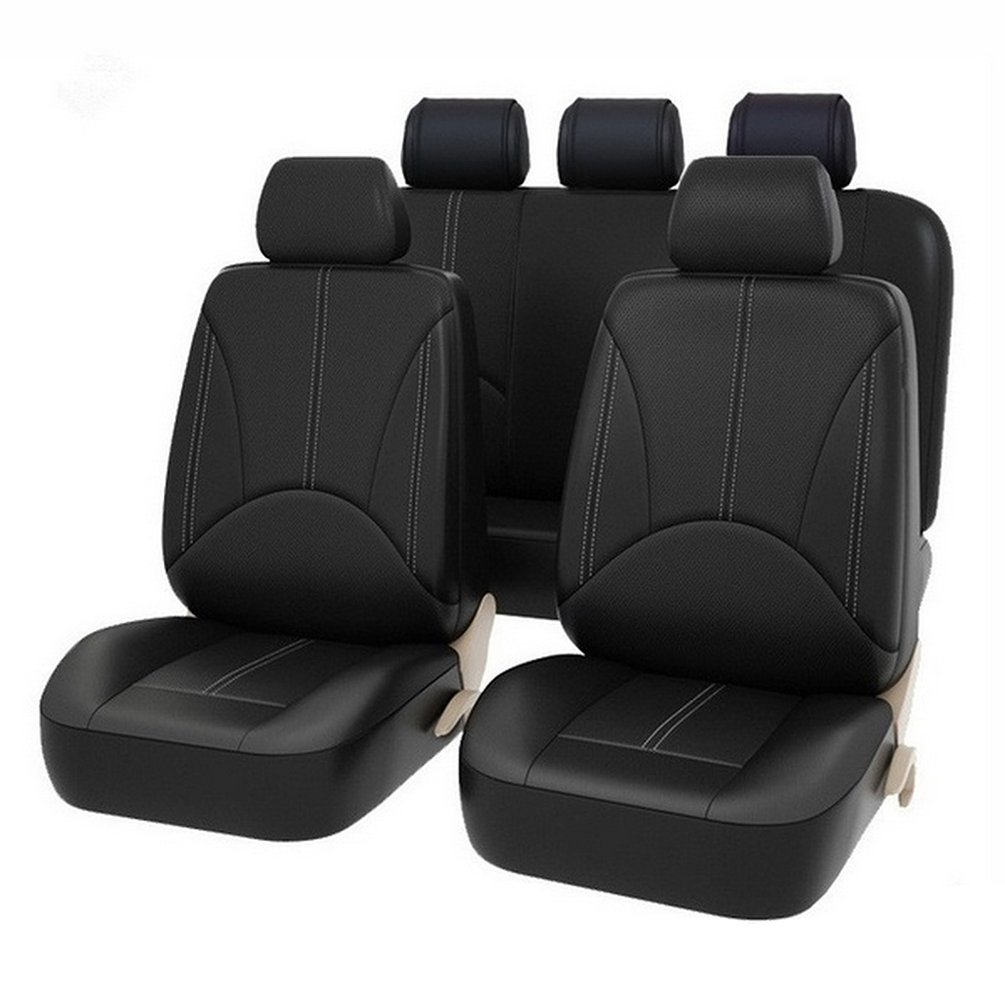 9PCS Pu leather car seat cover artificial leather four seasons universal cushion Many seats car seat protection