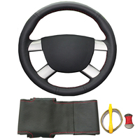 Genuine leather DIY hand stitched braided steering wheel cover for Focus 2 2005 2011 for Ford Kuga 2008 2011 C MAX 2008 2010