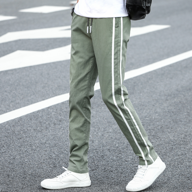 2020 Brand Men Pants Casual Mens Business Male Trousers Classics Mid Weight Straight Full Length Fashion Breathing Pant