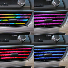 10 sztuk/zestaw DIY poszycia wykończenie wylotu powietrza taśmy stylizacji wnętrza samochodu kratka wentylacyjna przełącznik obręczy wykończenia dekoracja do wylotu taśmy dostęp