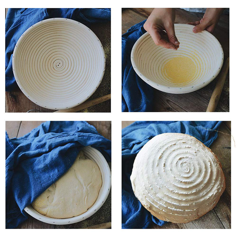Image 3 - 9 Inch Round Fermentation Rattan Basket Country Bread Baguette 