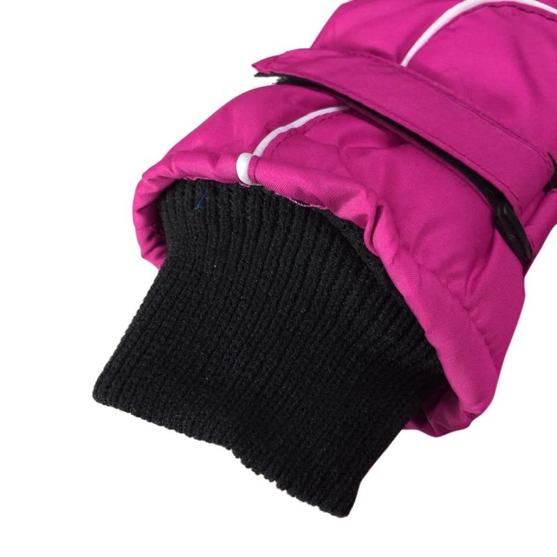 Популярные Нескользящие Детские лыжные перчатки, ветрозащитные водонепроницаемые детские зимние варежки, утепленные варежки для девочек и мальчиков, детские варежки, теплые перчатки для детей