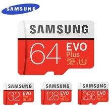 SAMSUNG EVO + Micro SD 32G SDHC 80เมกะไบต์/วินาทีเกรดClass10การ์ดหน่วยความจำC10 UHS I TF/SDการ์ดtrans Flash SDXC 64GB 128GBสำหรับการจัดส่ง