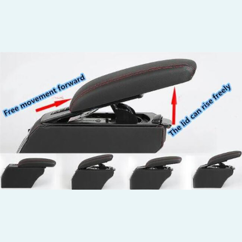 For <font><b>Kia</b></font> Soul 2010 2011 2012 2013 Leather Car Interior Parts Center Console Armrest Box Auto Armrests Storage with USB image