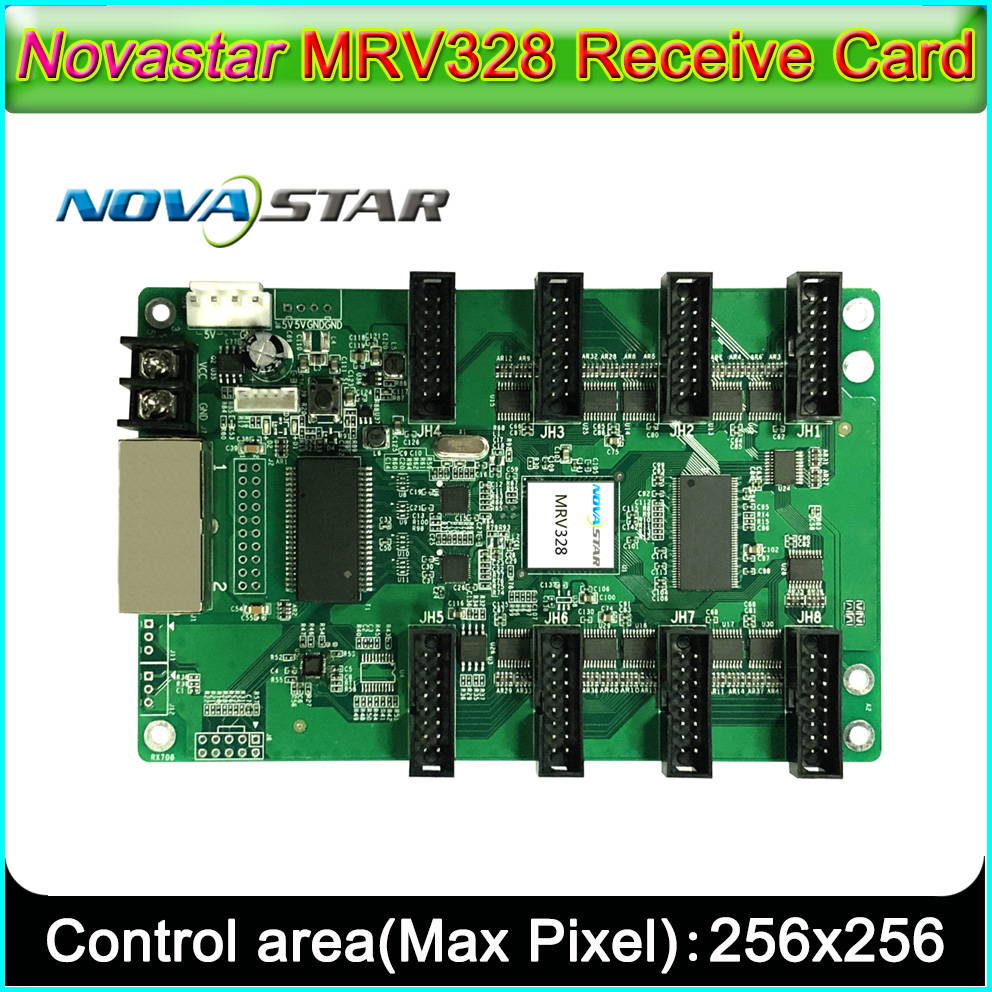 Novastar MRV328 LED Displays Receiving Card, Support 1/32 Scan,Outdoor Indoor Full Color P2.5-P10 LED Video Display  Controller