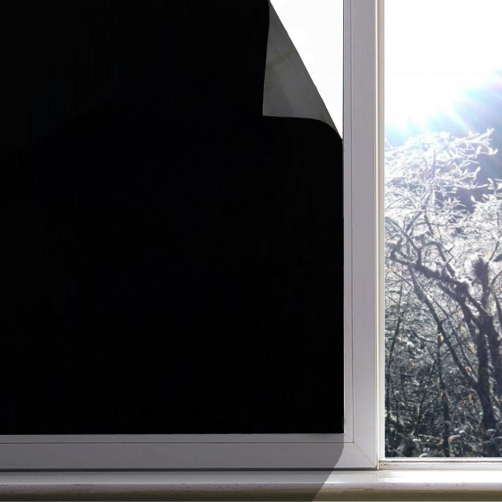 Blackout Opaque Window Sticker Static Cling 100% Light Blocking PVC Frosted Dark Tint Film Privacy Protection Window Covering