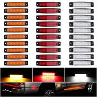 Novelty Light 30pcs 12V 6 LED Red White Yellow Truck Trailer Pickup Side Marker Indicators Light Car Side Decor