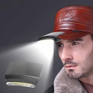 Portable Headlamp Hat Clamp LED Light Cap Clip On Light Outdoor Fishing Running Beanie Hat Flash Headlight Camping Climbing Caps