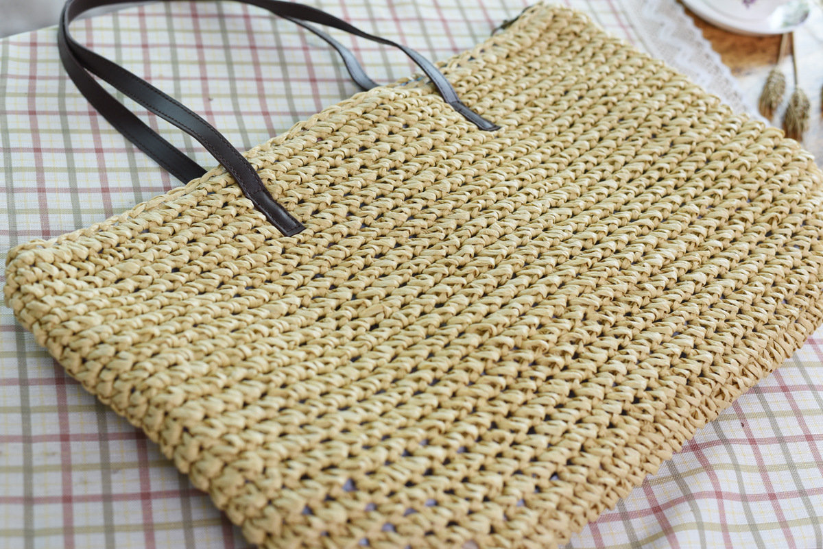 Oversized Straw Beach Bags for Summer 2021 with Leather Strap