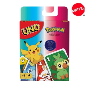 Mattel Games UNO Pokemon Sword & Shield Card Game Family Entertainment Fun Poker Kids Toys Playing Cards Gift