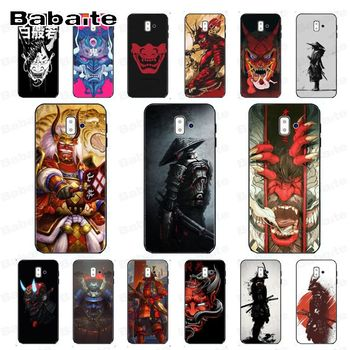 Japanese samurai oni mask Luxury Unique Design Phone case Cover For samsung Galaxy j6 plus A6 A8 A9 A10 A70 A50 Mobile Cases image