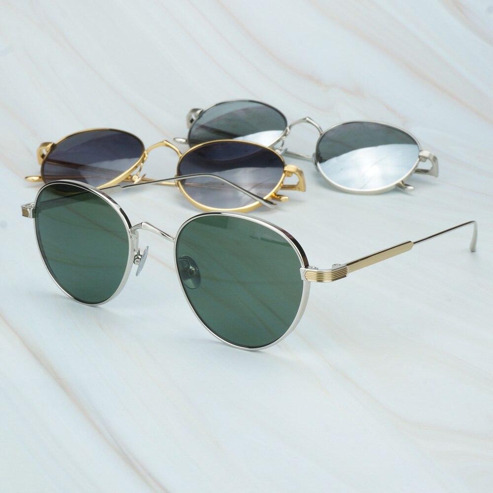 Fashion Mirror Sunglasses Men Vintage Gafas De Sol Mujer Mens Fashion Sunglasses 2 Tone Wire Frame For Prescription Shades 009S